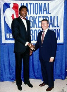 Hakeem Olajuwon at the 1984 NBA Draft
