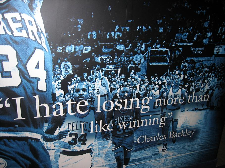 from the Barkley image above. This is one of his most famous quotes ...