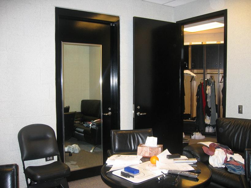 Maurice Cheeks office in the Sixers locker room
