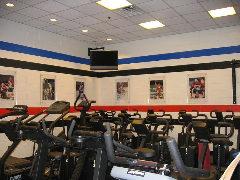 Sixers' workout room